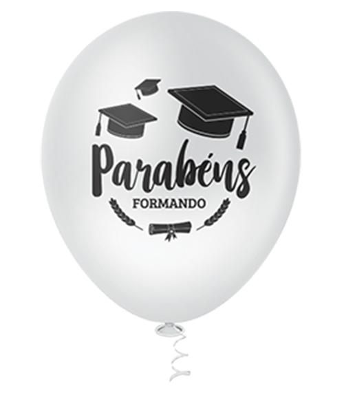 """Balão de Festa Estampado Formatura Sortido - 10"""" 25cm - Pic Pic"""