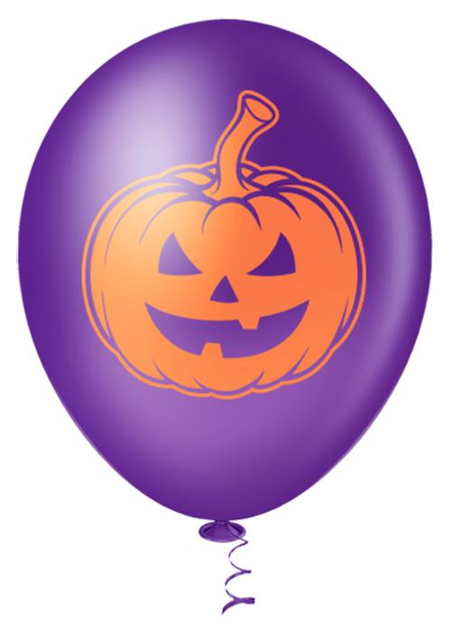 """Balão de Festa Estampado Halloween Abobora Sortido - 10"""" 25cm - Pic Pic"""