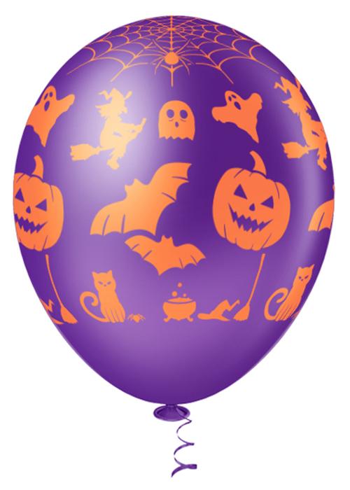 """Balão de Festa Estampado Halloween Sortido - 10"""" 25cm - Pic Pic"""