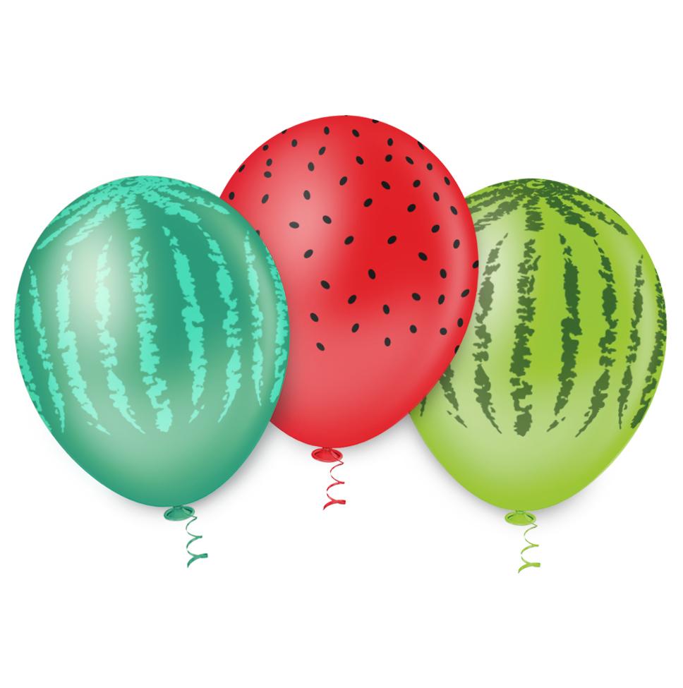 """Balão de Festa Estampado Melancia Sortido - 10"""" 25cm - Pic Pic"""