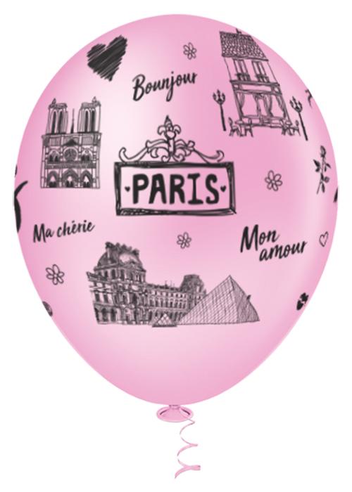 """Balão de Festa Estampado Paris Sortido - 10"""" 25cm - Pic Pic"""