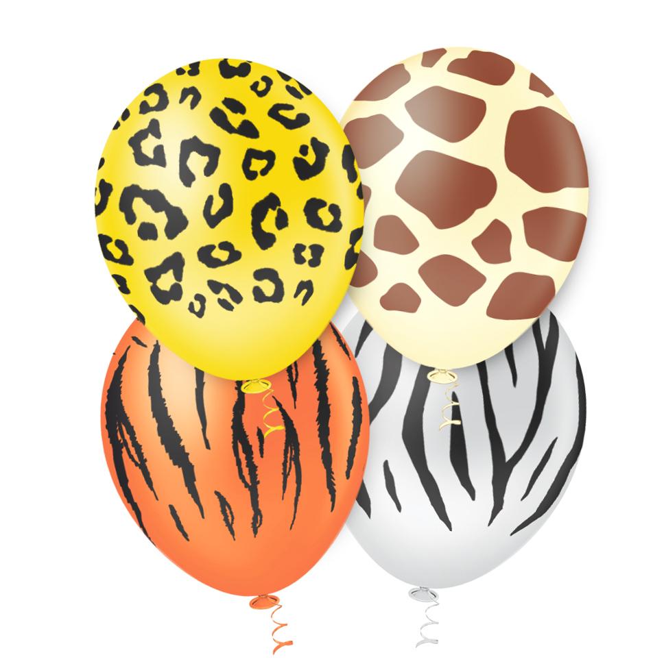 "Balão de Festa Estampado Safari Sortido - 10"" 25cm - Pic Pic"