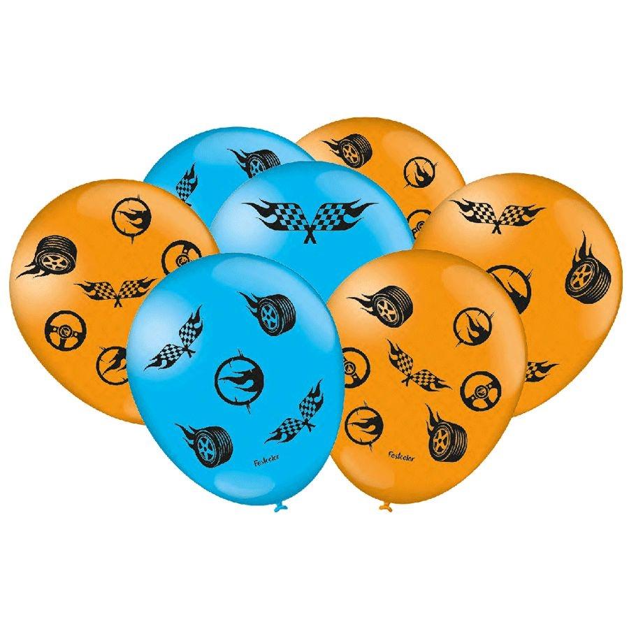 """Balão de Festa Hot Wheels - 9"""" 23cm - 25 unidades - Festcolor"""