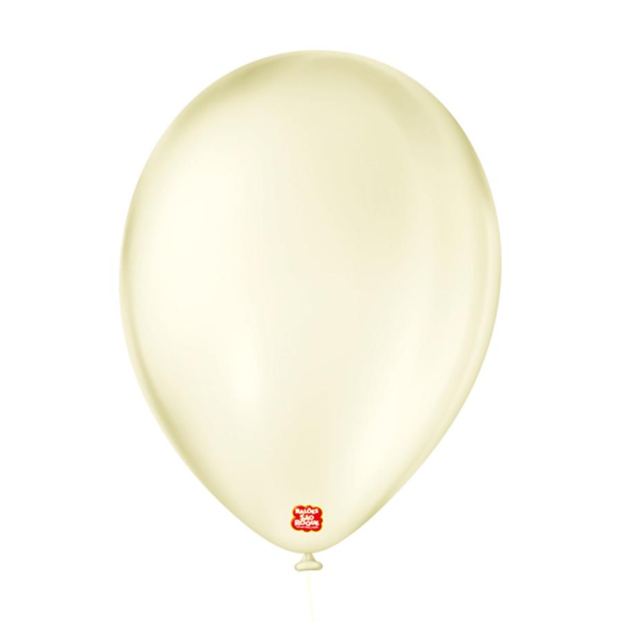 """Balão de Festa Látex Cristal Baby - Cores - 9"""" 23cm - 25 Unidades"""