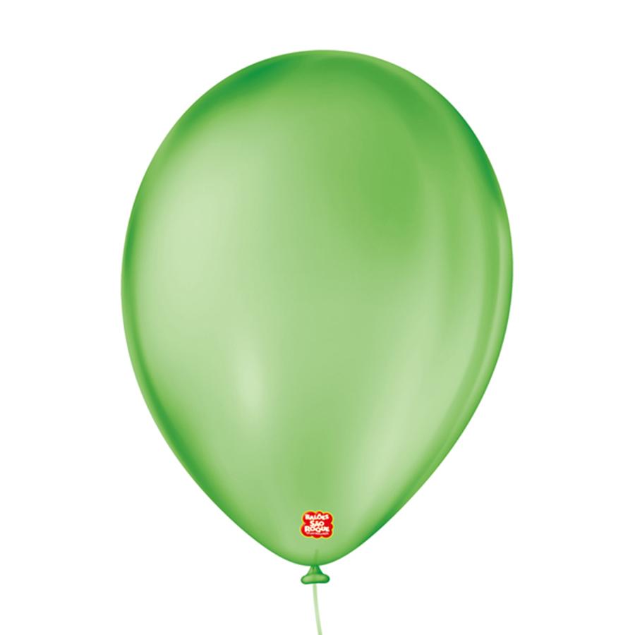 """Balão de Festa Látex Cristal - Cores - 9"""" 23cm - 25 Unidades"""