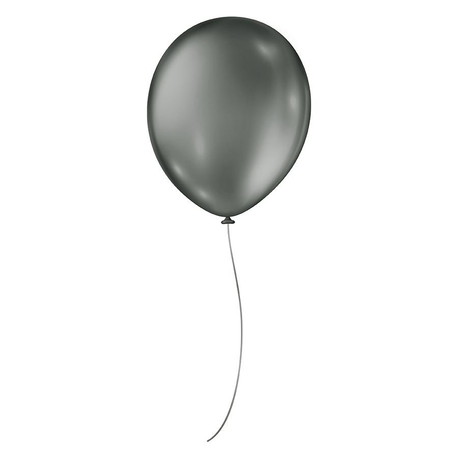 "Balão de Festa Metálico - Cores - 9"" 23cm - 25 Unidades"