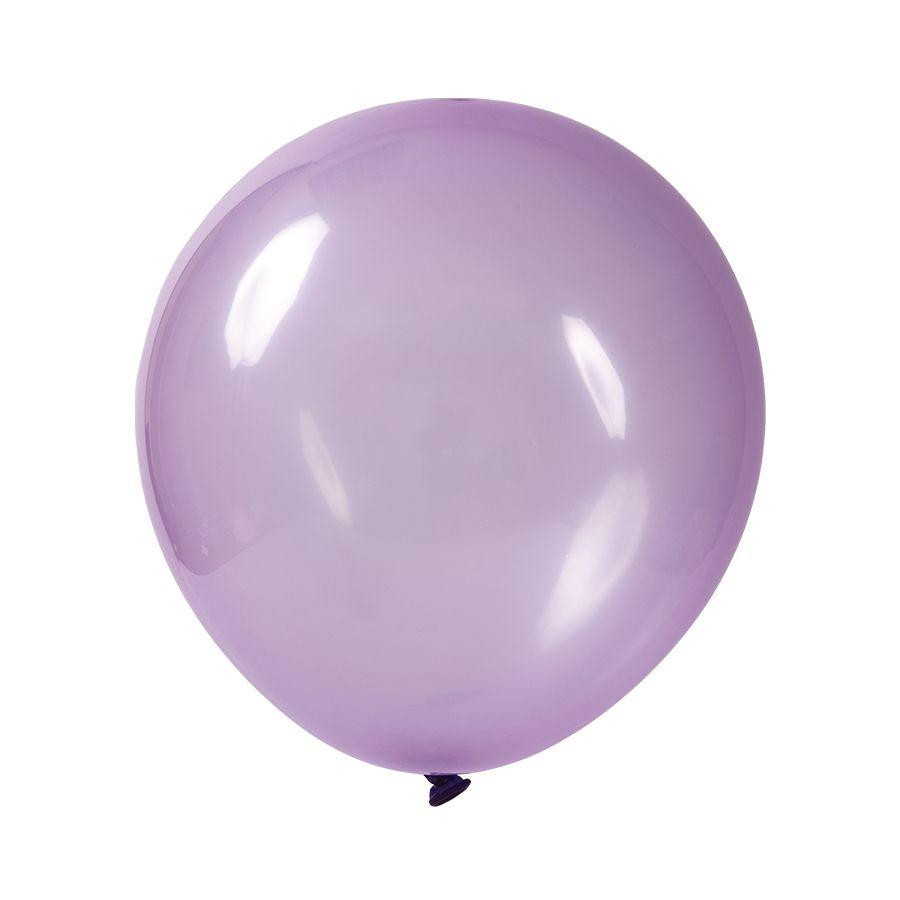 """Balão de Festa Redondo Profissional Látex Cristal Candy - Cores - 9"""" 23cm - 24 Unidades"""