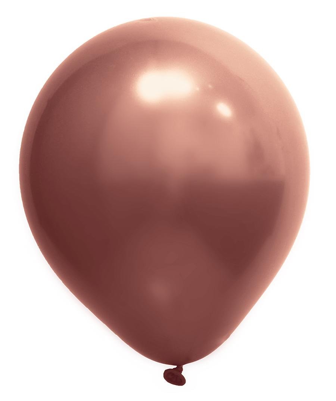 """Balão de Festa Redondo Profissional Látex Cromado - Cores - 12"""" 30cm - 24 Unidades"""