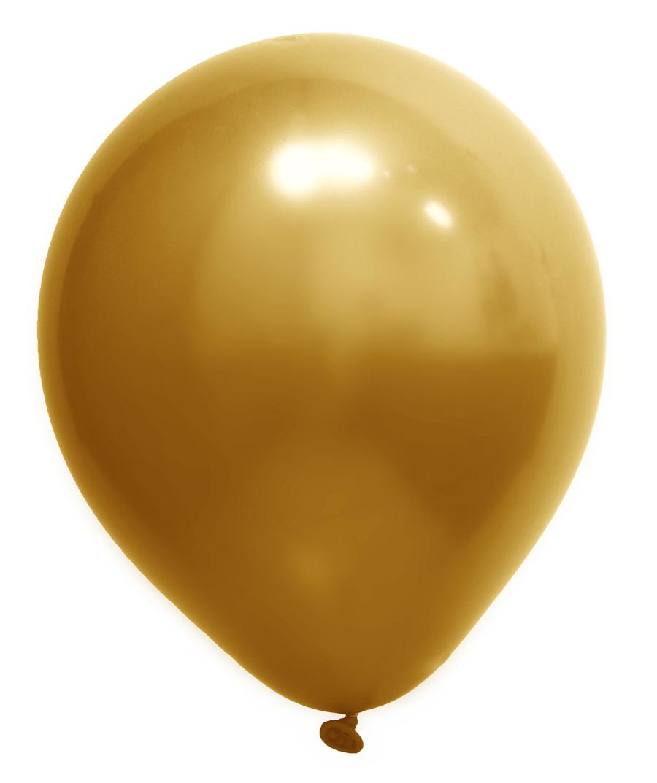 """Balão de Festa Redondo Profissional Látex Cromado - Cores - 9"""" 23cm - 24 Unidades"""