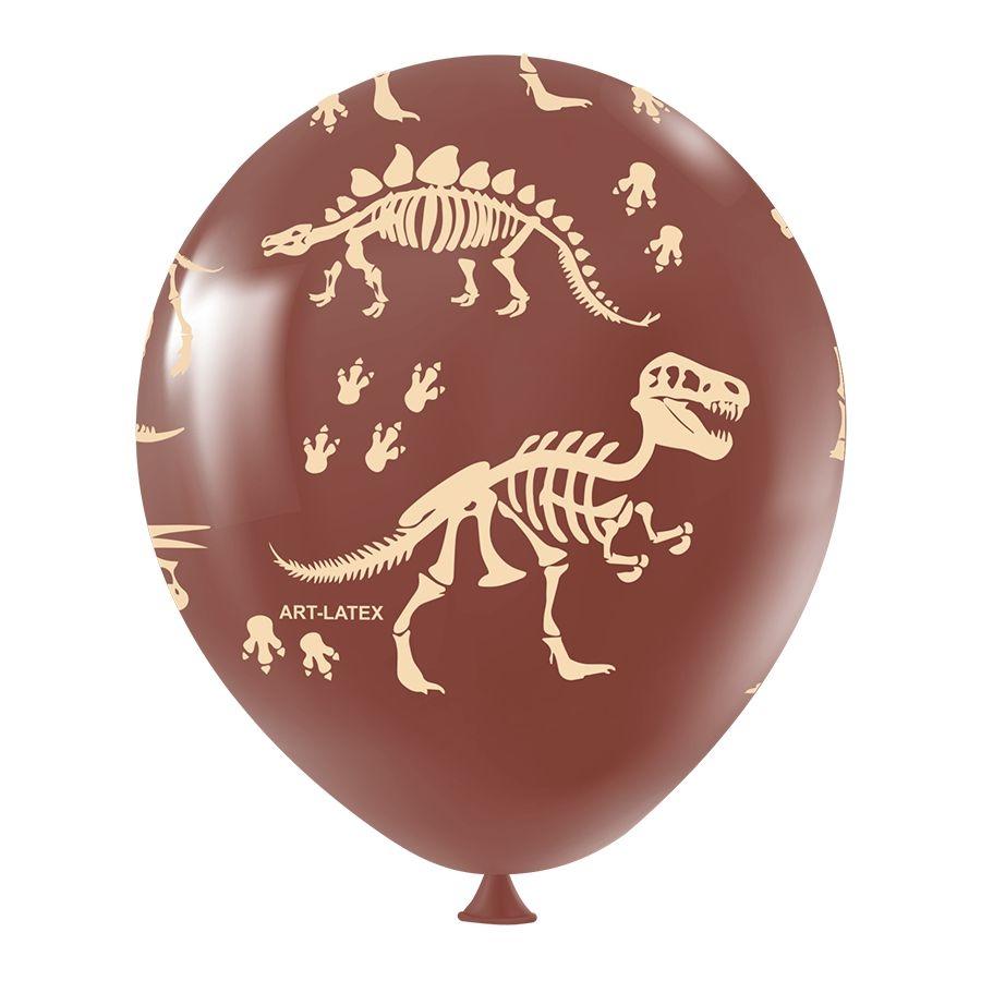 """Balão de Festa Redondo Profissional Látex Decorado 11"""" 28cm - Dinossauro - 25 Unidades"""