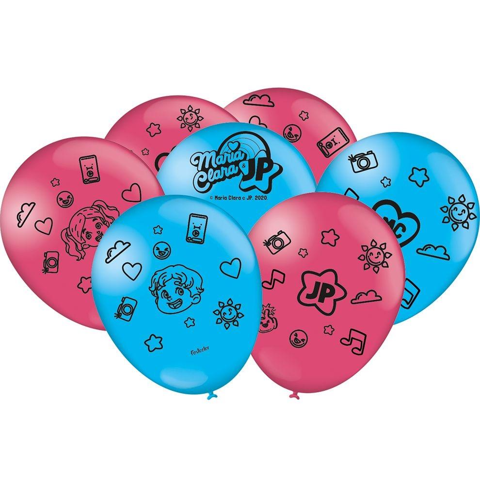 """Balão Especial Festa Maria Clara e JP - 9"""" 23cm - 25 unidades - Festcolor"""