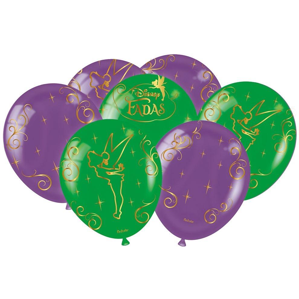 Balão Festa Fadas Disney - 25 unidades - Festcolor