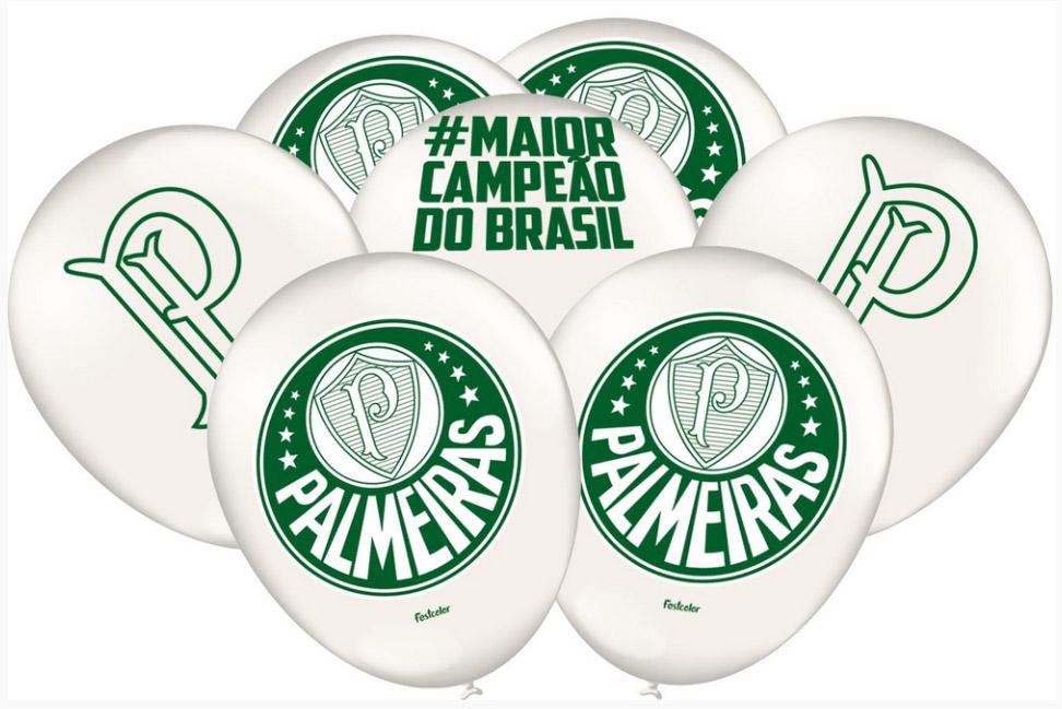 Balão Festa Palmeiras - 25 unidades - Festcolor