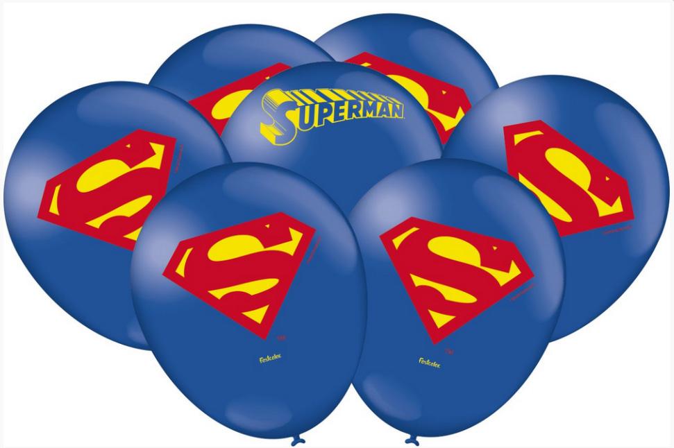 Balão Festa Superman - 25 unidades - Festcolor
