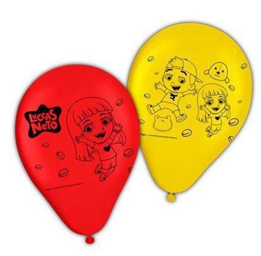 """Balão Látex Festa Luccas Neto - 9"""" 23cm - 25 unidades - Regina Festas"""
