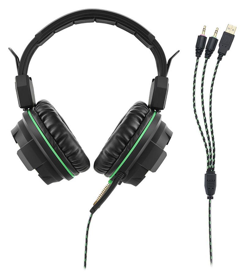 Fone De Ouvido Headphone Gamer Green Usb / Led Light - PH143