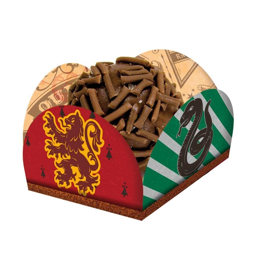 Porta Forminha para Doces Festa Harry Potter - 40 unidades - Festcolor