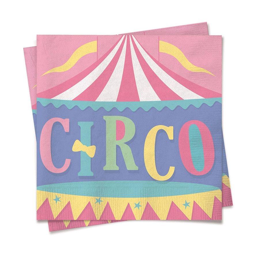 Guardanapo de Papel Festa Circo Rosa 24,5cm - 20 folhas - Cromus