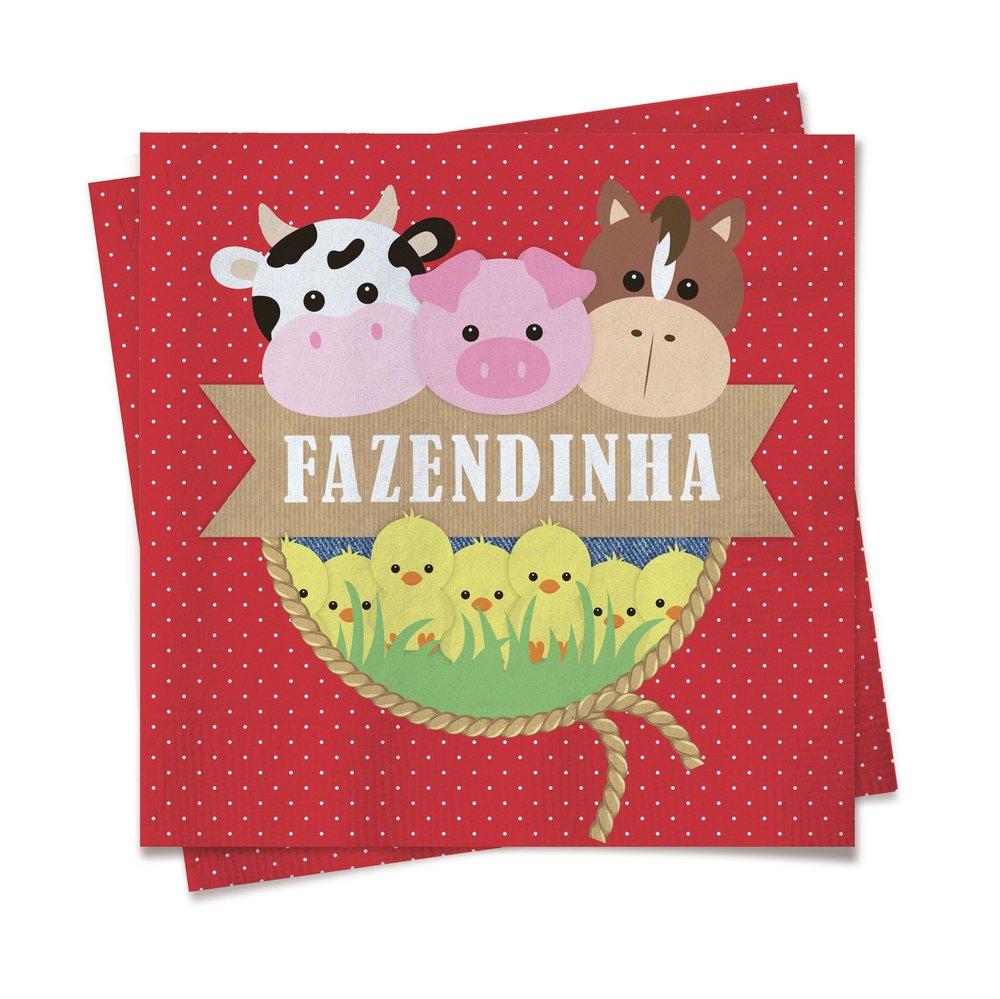 Guardanapo Festa Fazendinha Bichinhos - 20 unidades - Cromus