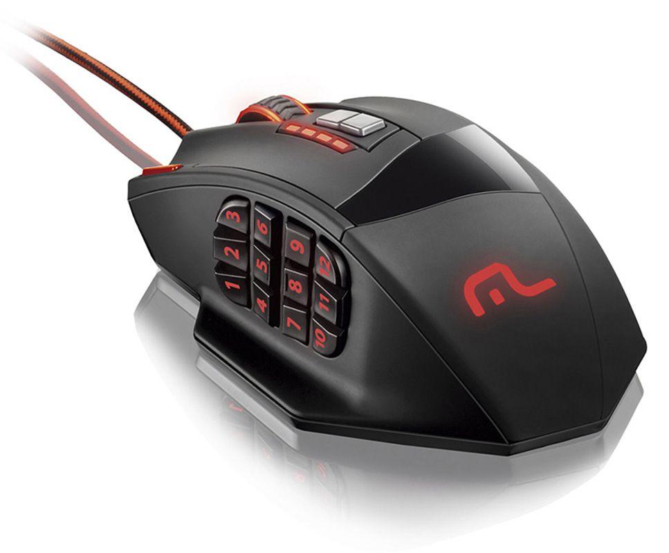 Mouse Multilaser Gamer Laser 18 Botões 4000dpi Preto Usb