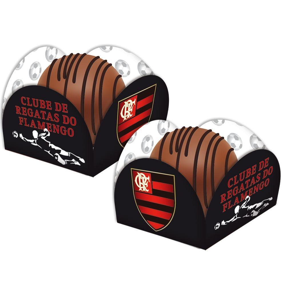 Porta Forminha para Doces Festa Flamengo - 40 unidades - Festcolor