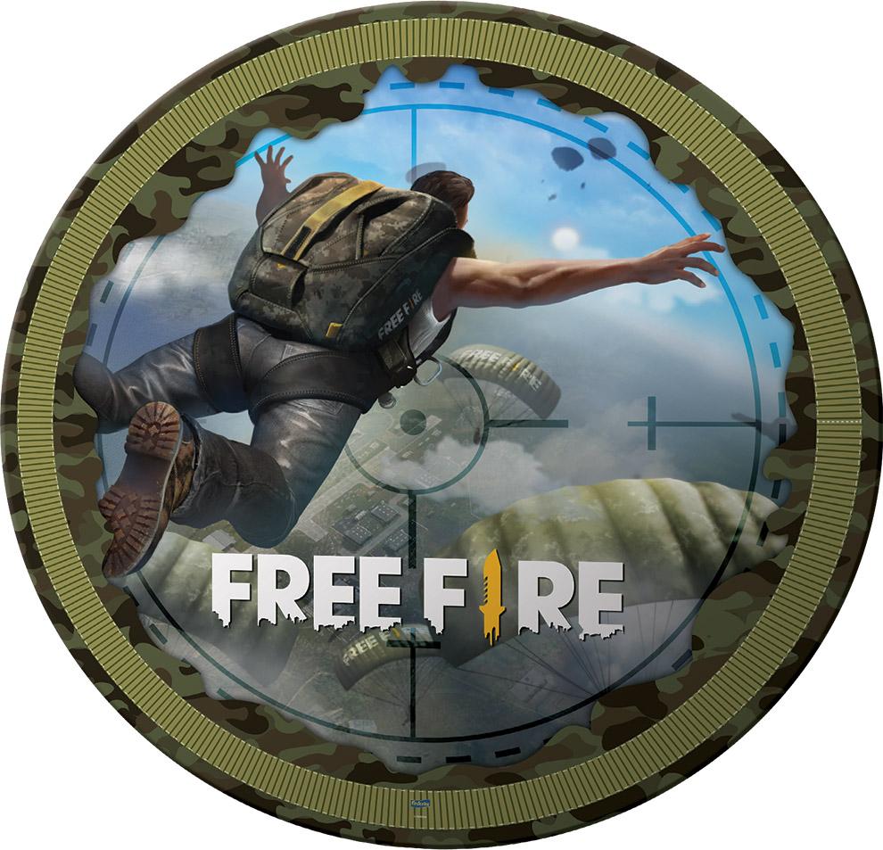 Prato Descartável Festa Free Fire - 8 Unidades - Festcolor