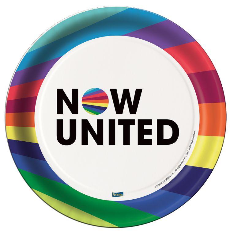 Prato Descartável Festa Now United - 8 Unidades - Festcolor