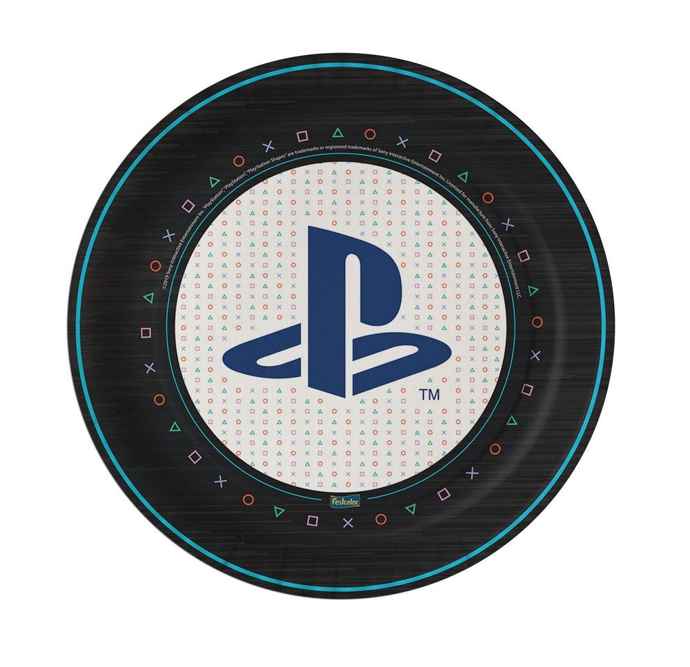 Prato Descartável Festa Playstation - 8 unidades - Festcolor