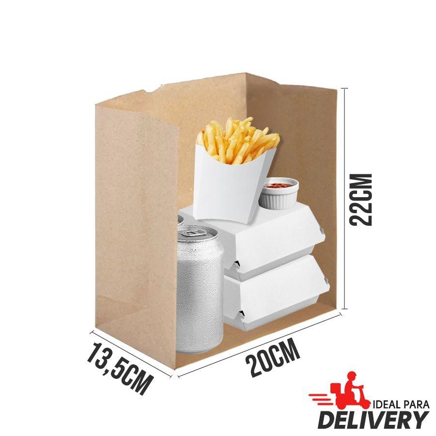Saco de Papel Kraft Ref 5782 - 22x13,5x20cm - 10 unidades - WMA