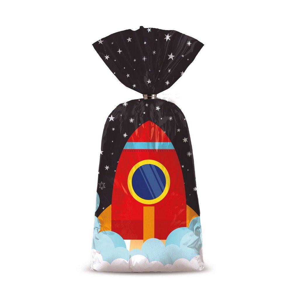 Sacolinha para Lembrancinha Festa Astronauta - 8 unidades - Cromus