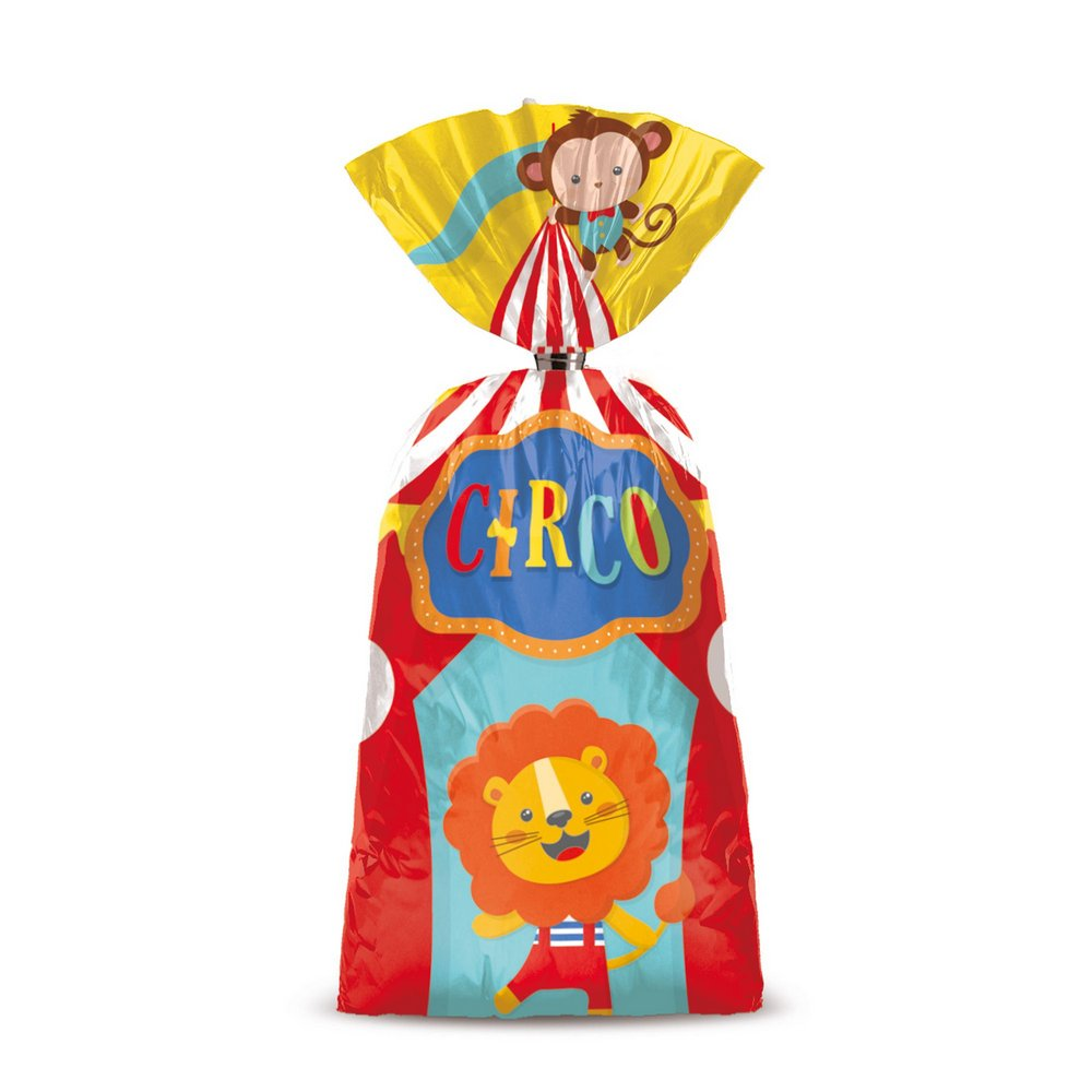 Sacolinha para Lembrancinha Festa Circo 2 - 8 unidades - Cromus