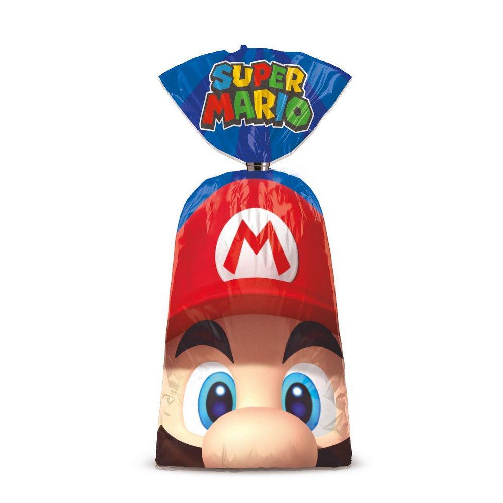 Sacolinha para Lembrancinha Festa Mario - 8 unidades - Cromus