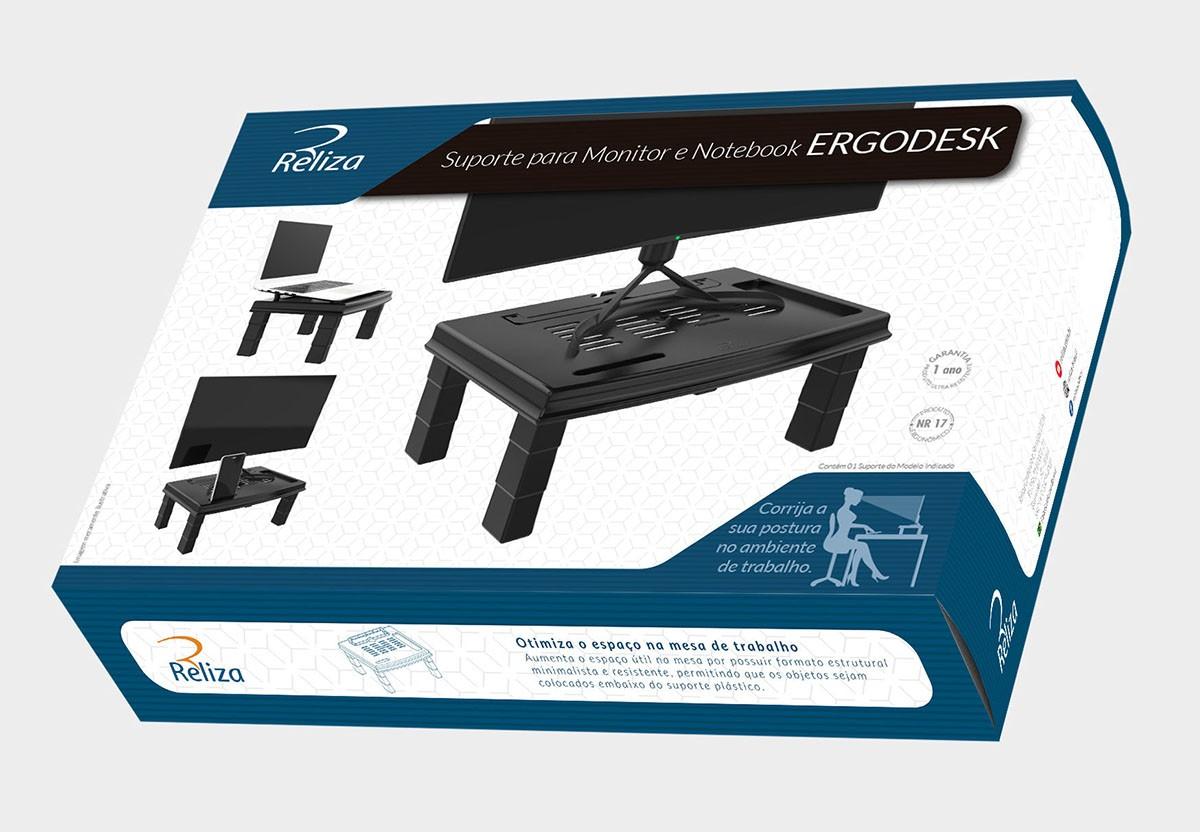 Suporte para Monitor e Notebook Reliza Ergodesk - 3045