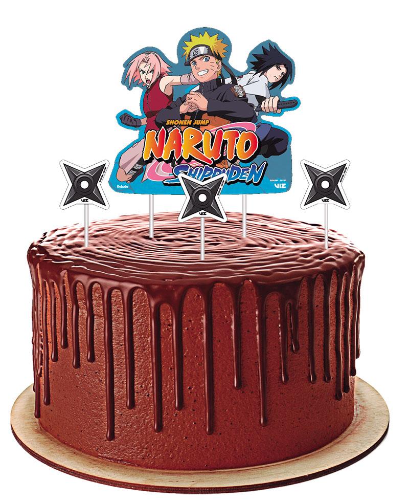 Topper para Bolo Festa Naruto - 04 unidades