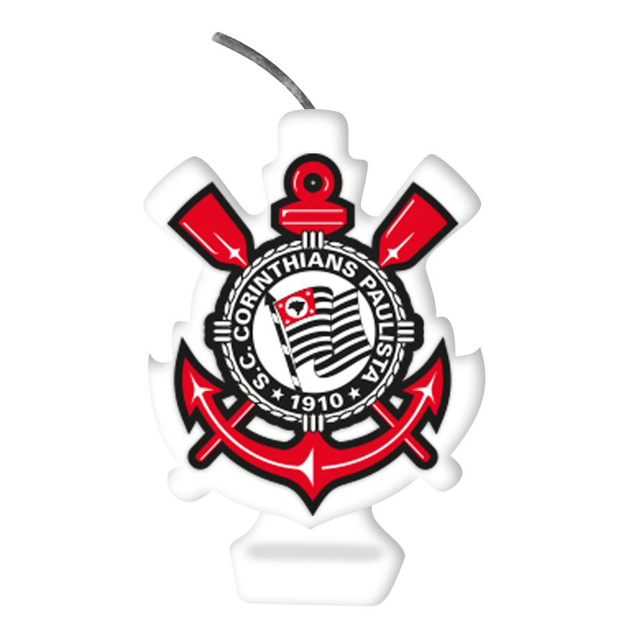 Vela Emblema Festa Corinthians - 01 unidade - Festcolor