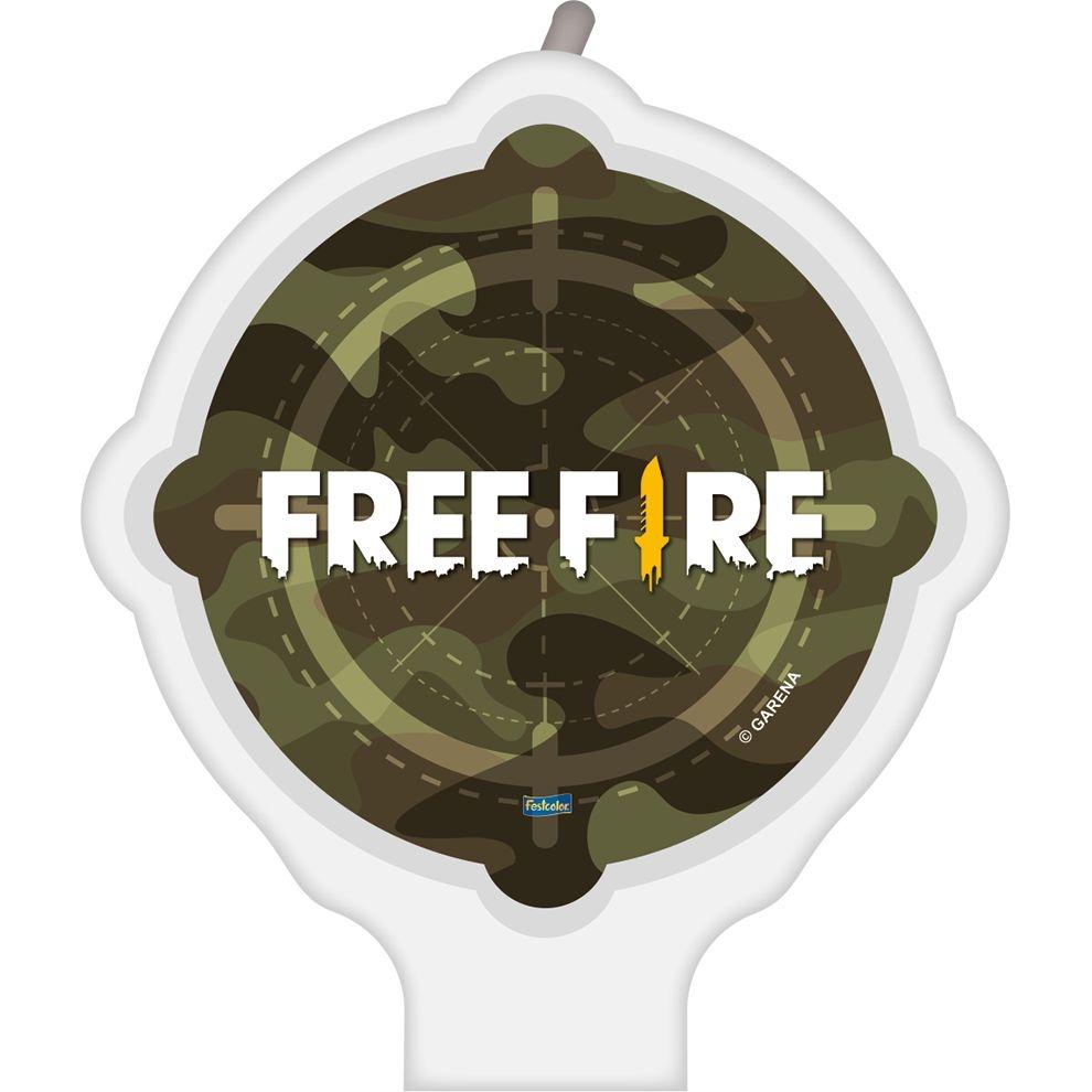 Vela Festa Free Fire - 01 unidade - Festcolor