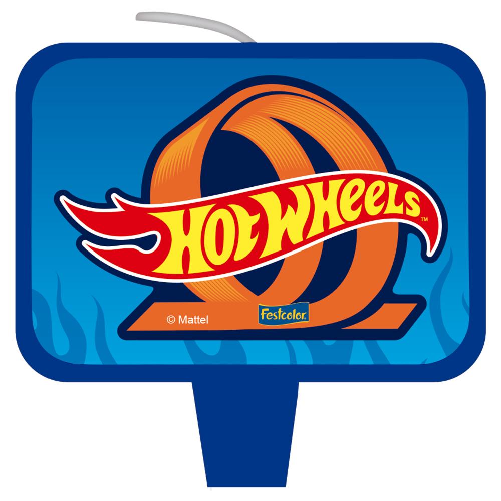 Vela Festa Hot Wheels - 01 unidade - Festcolor