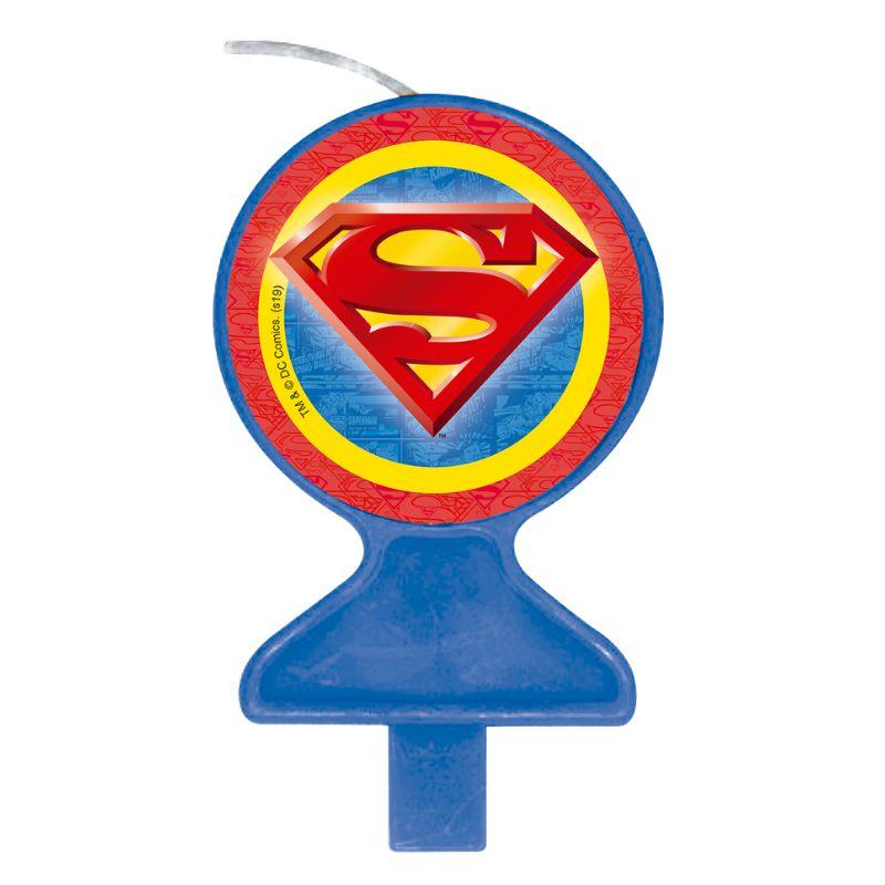 Vela Festa Superman - 01 unidade - Festcolor