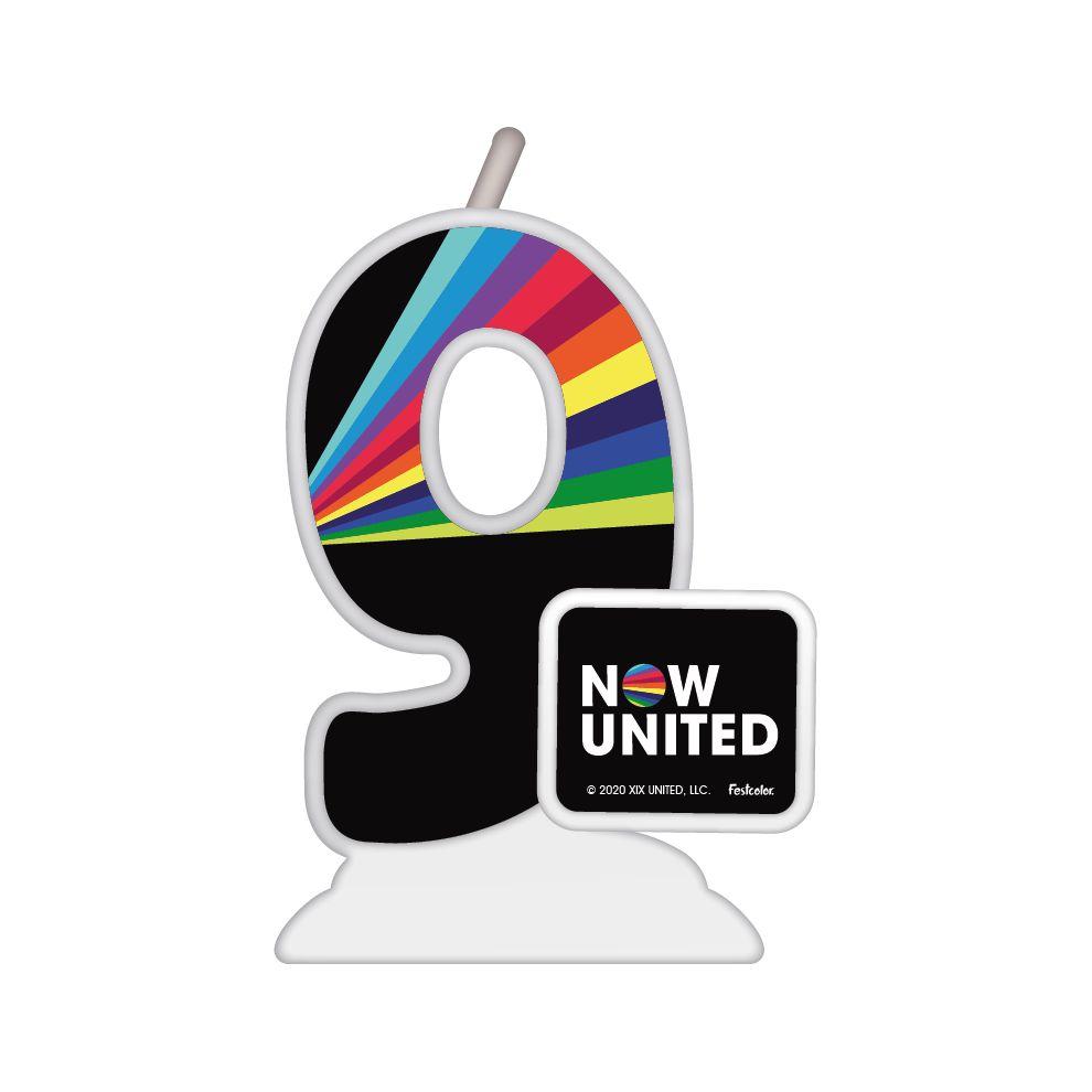 Vela Temática Festa Now United - Números - 01 Unidade - Festcolor