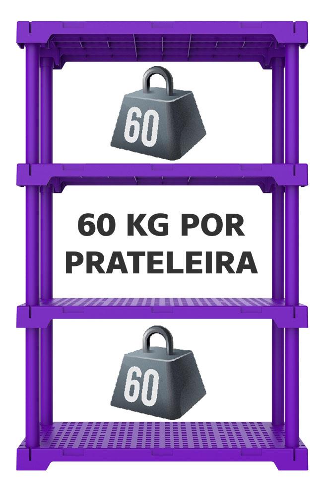 ESTANTE CUBE 4 ROXA