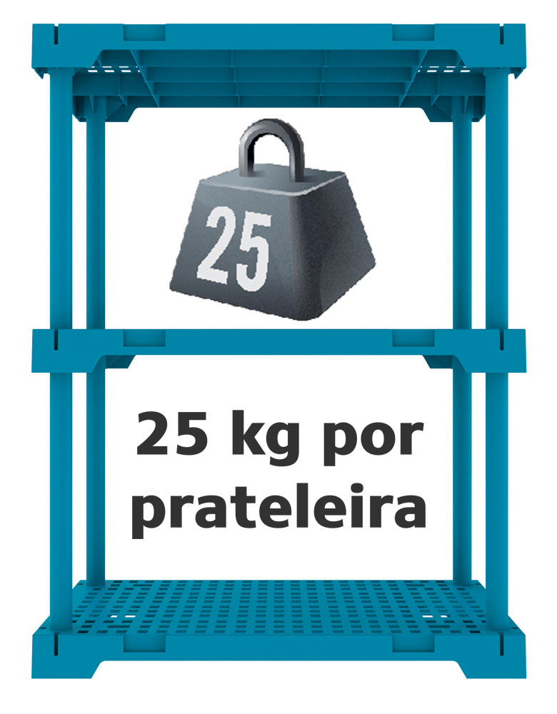 ESTANTE POLY 3 AZUL