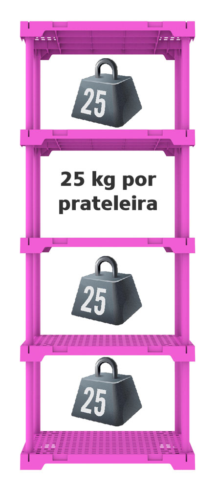 ESTANTE POLY 5 ROSA