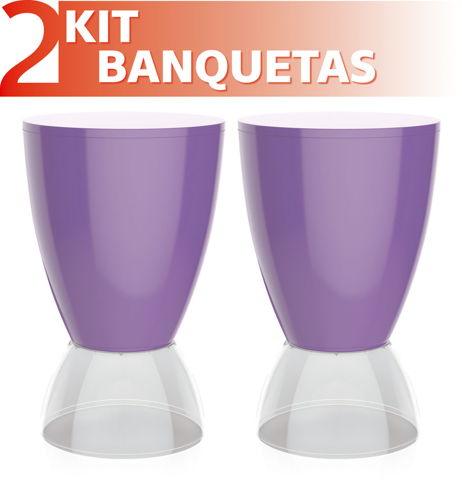 BANQUETA ARGO CRISTAL CRISTAL