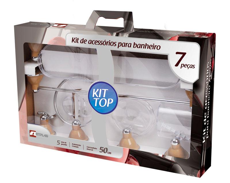 KIT DE BANHEIRO TOP 7 PEÇAS PRATA