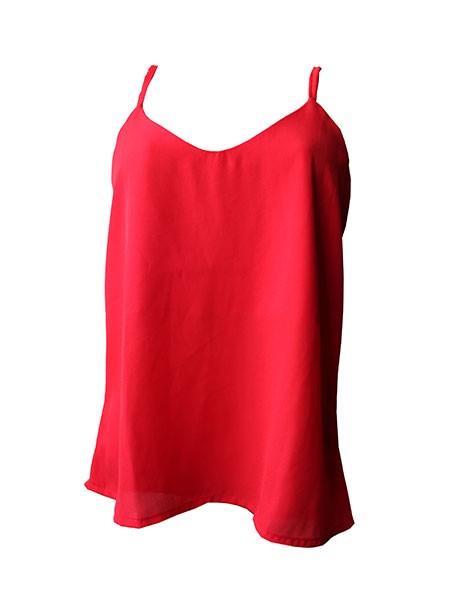 Blusa alcinha básica vermelha