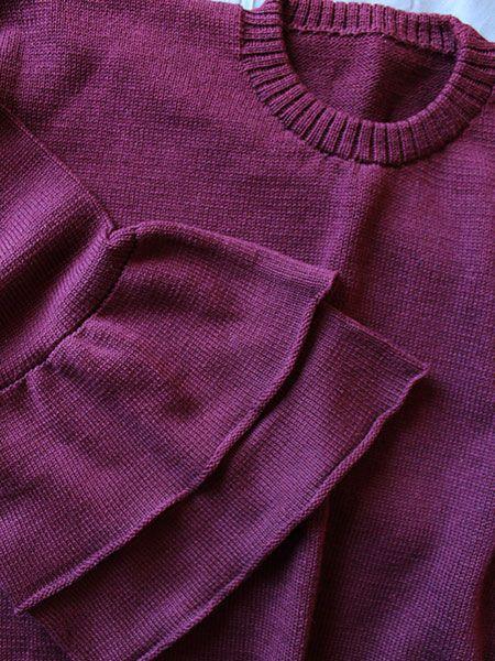 Blusa tricot vinho kiss me
