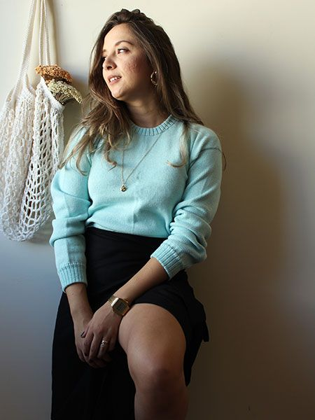 Blusa tricot menta