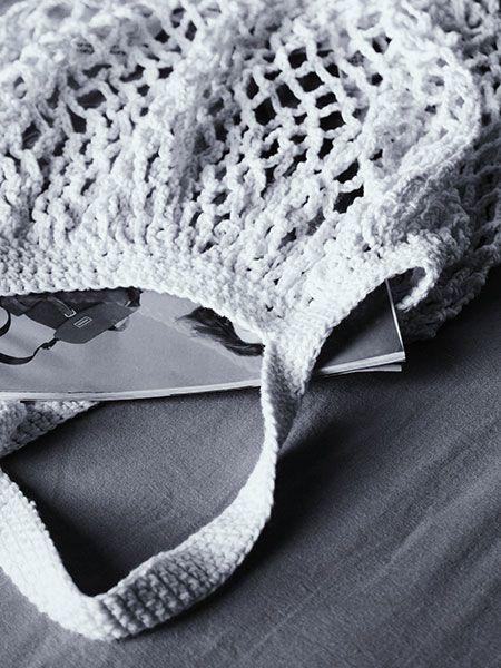 Bolsa crochet off white