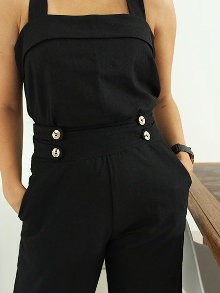 Pantalona linho preta