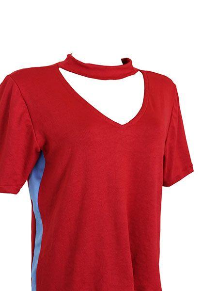 T-shirt red chocker